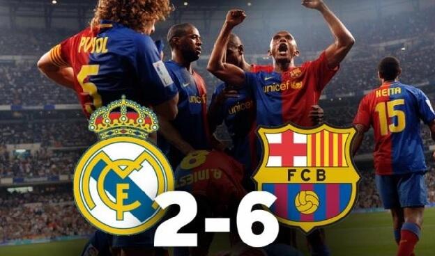 Real Madrid 2-6 Barcelona