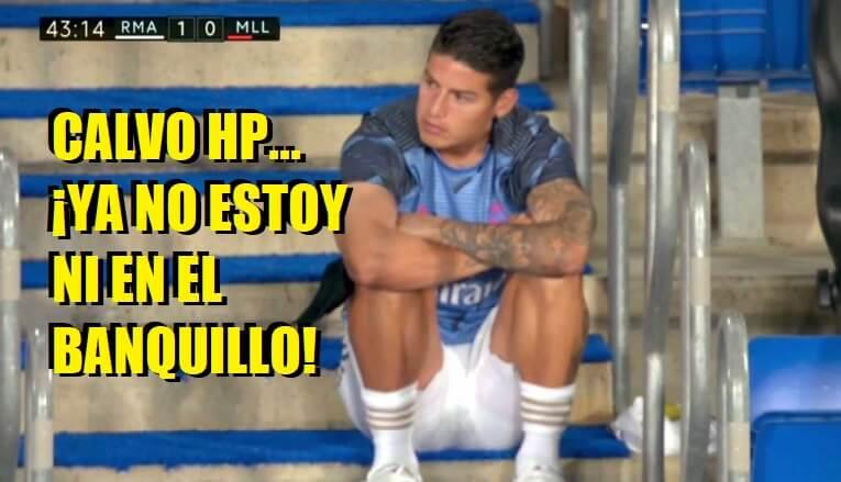 Memes Real Madrid-Mallorca 2020   Los mejores chistes james rodriguez sentado en la escalera