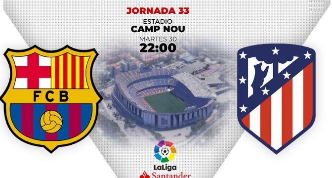 Alineación Barcelona-Atlético Jornada 33