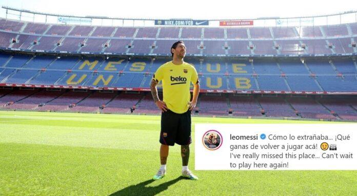 Messi Vuelve al Camp Nou y se emociona