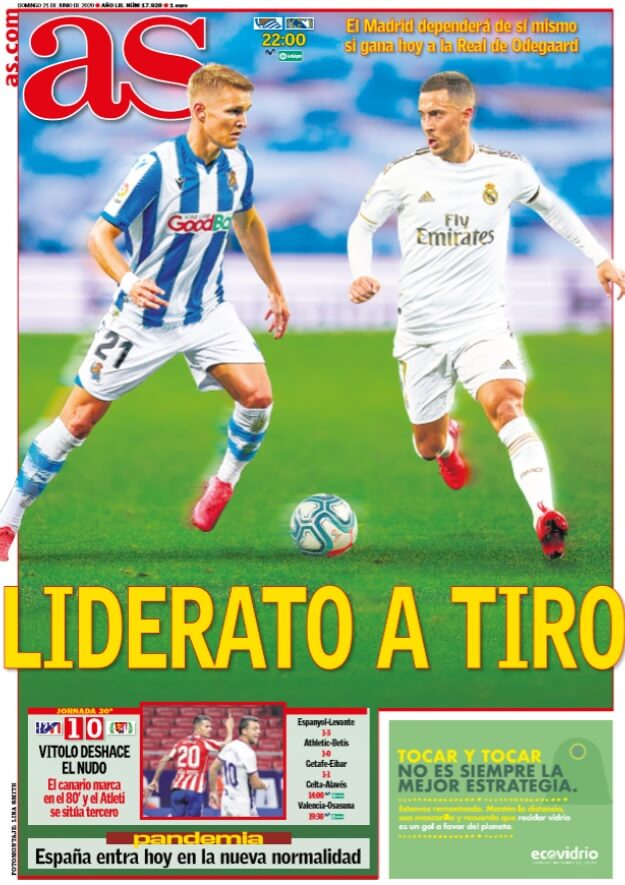 Portadas Diarios Deportivos Domingo 21/06/2020