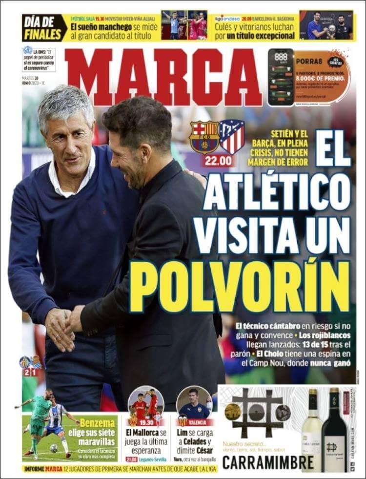 Portadas Diarios Deportivos Martes 30/06/2020