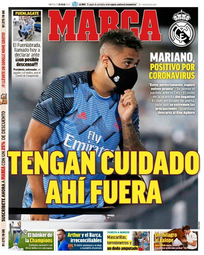Portadas Diarios Deportivos Miércoles 29/07/2020