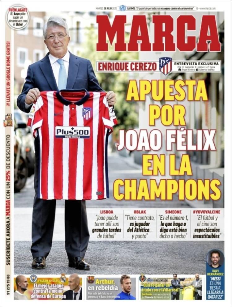 Portadas Diarios Deportivos Martes 28/07/2020