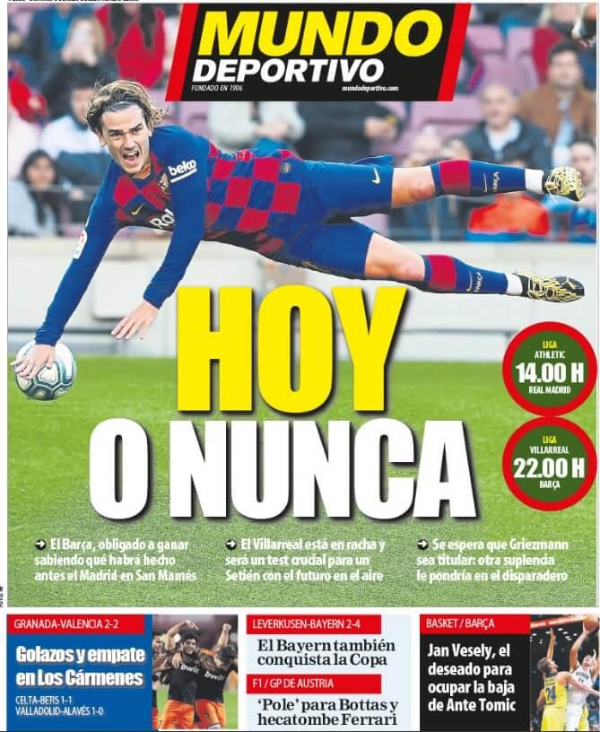 Portadas Diarios Deportivos Domingo 5/07/2020