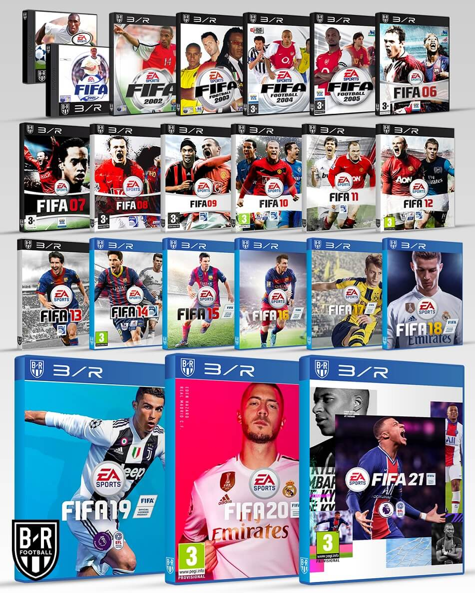 Portadas FIFA21 del 2001 al 2020