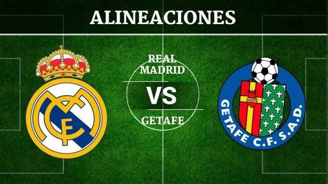 Alineación Real Madrid-Getafe Jornada 33